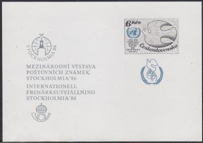 ČERNOTISK 1986 - STOCKHOLMIA č.: PT 17 - známka č.: 2688 - LEVNĚ !!