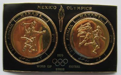 Manáma 1968 LOH Mexiko, zlaté Mi# Block 43 1696