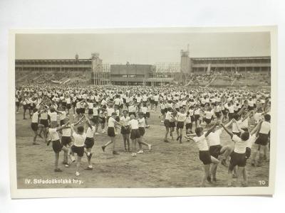 Praha - SOKOL SLET - Stř. hry - děti - pamětní razítko 1938