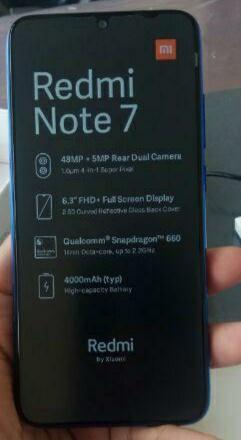 Redmi Note 7, verze 3 gb RAM, 32 gb ROM