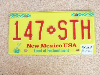 USA SPZ, New Mexico originál...