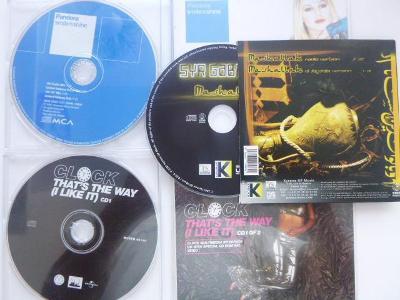3 maxiCD PANDORA Smile N Shine CLOCK That´s The Way I Like It DJ Farge