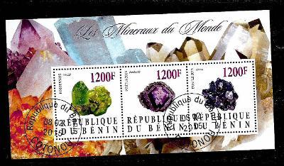 Benin 2015 Minerály - Peridot, Ametyst, Azurit