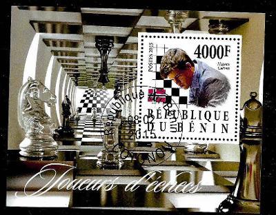 Benin 2015 Sport - šachy - Magnus Carlsen