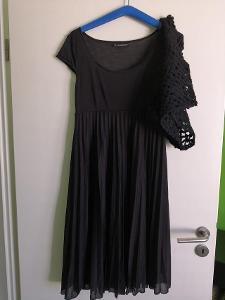 Dámské černé šaty s bolérkem