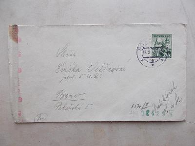 Pošta provoz cenzura Wehrmacht svastika válka Slovenský stát Poprad
