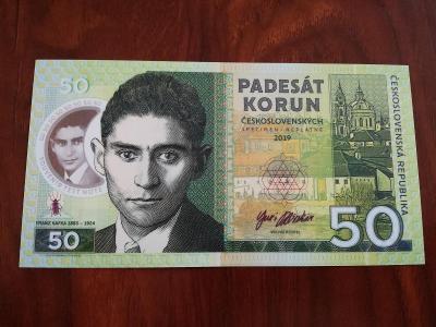 50 korun československých Franz Kafka - Matej Gábriš, stav N