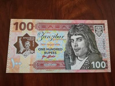 100 rupees Freddie Mercury - Matej Gábriš, stav N