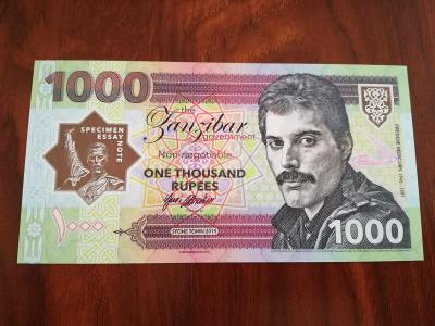 1000 Rupees Freddie Mercury - Matej Gábriš, stav N