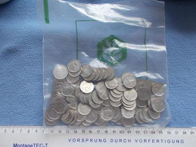 Numismatika pytel mincí Belgie Frank 1 jeden originál bankovní balení
