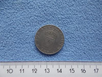 Mince Švédsko 1 jedna koruna 1977 Král Karel  Gustav