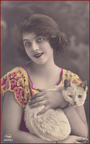 Kočičí fotografie žen