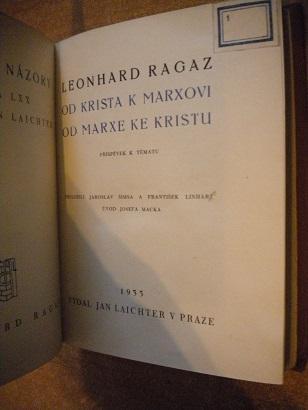 Ragaz Leonhard - Od Krista k Marxovi, od Marxe ke Kristu - 1935