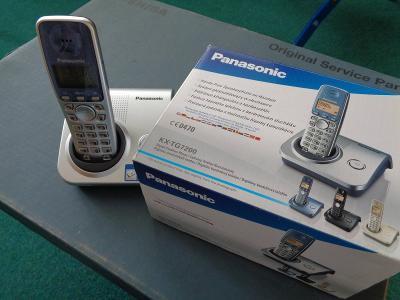 Bezdrátový telefon PANASONIC KX-TG7200, komplet, pouze rozbalený