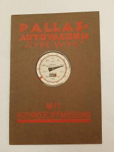 Orig. reklamní brožurka Pallas, začátek 20tých let auto přislušenství