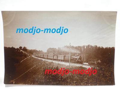 parní lokomotiva -  železnice - REAL FOTO