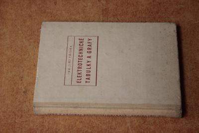STARÁ KNIHA ELEKTROTECHNICKÉ TABULKY ROK 1955