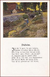 Krajina * žena, venkovský motiv, umělecká, báseň * M5809