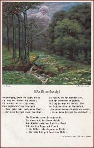 Krajina * srna, lesní motiv, umělecká, báseň * M5826
