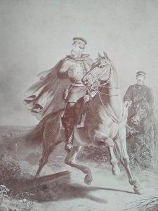 FOTOGRAFIE z 19.stol. Unser Fritz nalepená na kartonu