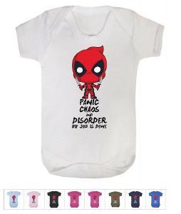 Deadpool Cute Marvel- dupačky body / krátký dlouhý rukáv - různé barvy