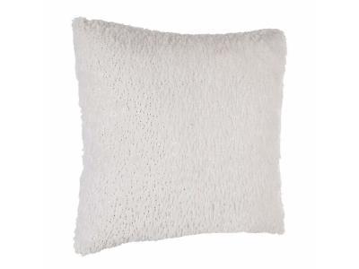 Bílý kožešinový polštář, lehký 40x40cm