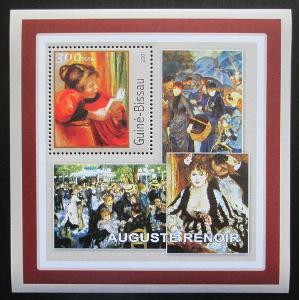 Guinea-Bissau 2001 Umění, Pierre-Auguste Renoir Mi# 1625 Block 1708