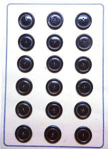 černohnědé knoflíky -57 ks