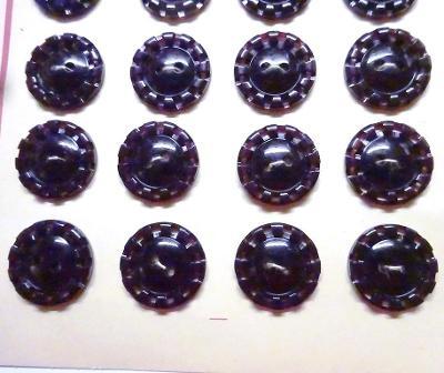 knoflíky černovínové kytičky 130 ks
