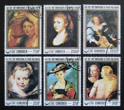 Komory 1977 Umění, Peter Paul Rubens Mi# 353-58 1128