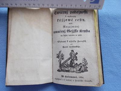 Mimořádná nabídka církev modlitba 1854 Olomouc ČEŠTINA !  ruční papír