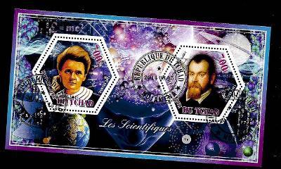 Čad 2014 -  Marie Curie, Galileo Galilei