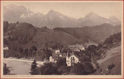 Bad Faulenbach (Füssen) * celkový pohled, hory, Alpy * Německo * Z1518