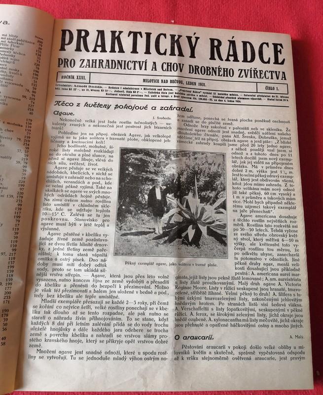 Kniha - Praktický rádce zahradnictví a chov/č.1 -12/1931...(9357) - Knihy