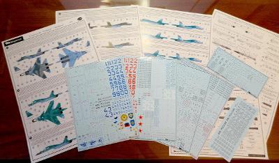 BEGEMOT 48-045 Obtisky letadla Su-34 w Syrii / 1:48