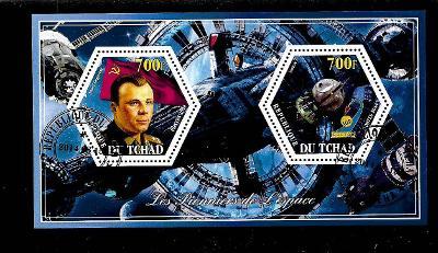 Čad 2014 - Kosmos - Gagarin, Vostok 1