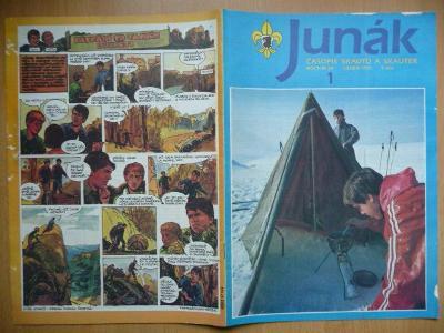 Časopis - Junák - ročník 34. - číslo 1. - Leden 1991