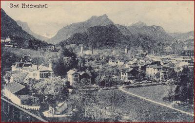 Bad Reichenhall * celkový pohled, hory, Alpy * Německo * Z428