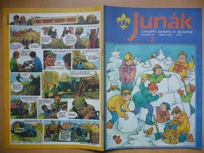 Časopis - Junák - ročník 34. - číslo 2. - Leden 1991