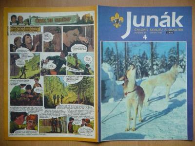 Časopis - Junák - ročník 34. - číslo 4. - Únor 1991