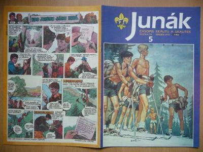 Časopis - Junák - ročník 34. - číslo 5. - Březen 1991
