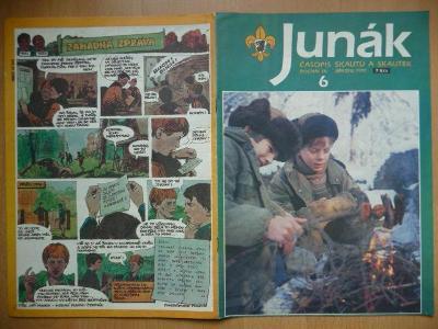 Časopis - Junák - ročník 34. - číslo 6. - Březen 1991