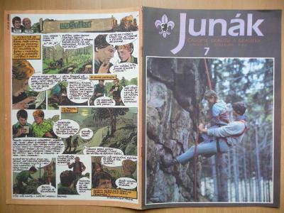 Časopis - Junák - ročník 34. - číslo 7. - Duben 1991