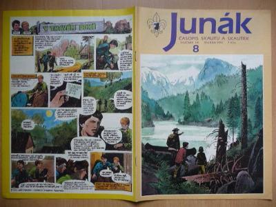 Časopis - Junák - ročník 34. - číslo 8. - Duben 1991
