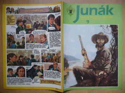 Časopis - Junák - ročník 34. - číslo 9. - Květen 1991