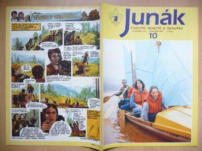 Časopis - Junák - ročník 34. - číslo 10. - Květen 1991