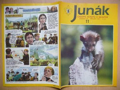 Časopis - Junák - ročník 34. - číslo 11. - Červen 1991