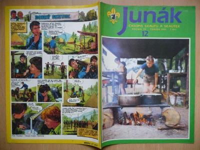 Časopis - Junák - ročník 34. - číslo 12. - Červen 1991
