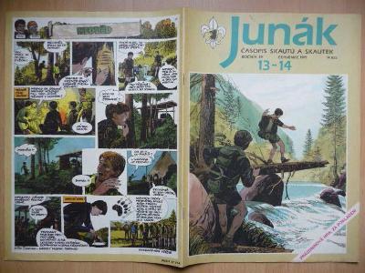 Časopis - Junák - ročník 34. - dvojčíslo 13. - 14. - Červenec 1991