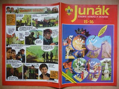 Časopis - Junák - ročník 34. - dvojčíslo 15. - 16. - Srpen 1991